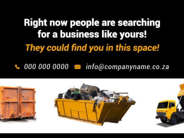 Advertise Here for Skip Hire